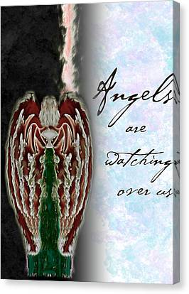 Angels Are Watching Over Us Canvas Print by Christopher Gaston