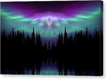 Angels Watching Over You Canvas Print by Andrea Kollo