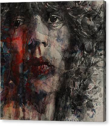 Mick Jagger Poster Canvas Print featuring the painting Angie I Still Love You Baby  Every Where I Look I See Your Eyes by Paul Lovering