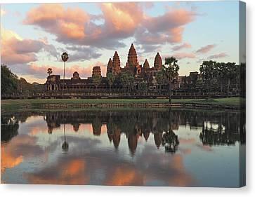 Angkor Sunset Canvas Print by Ryan Scholl