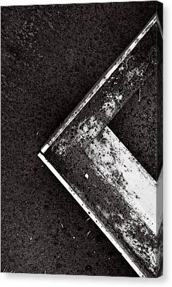 Angle Iron...black And White Canvas Print by Tom Druin