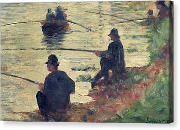 Anglers Canvas Print by Georges Pierre Seurat