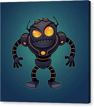 Angry Robot Canvas Print by John Schwegel