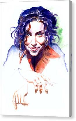 Ani Difranco Canvas Print by Ken Meyer jr
