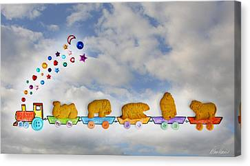 Animal Cracker Train Canvas Print by Diana Haronis