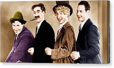 Animal Crackers, From Left Chico Marx Canvas Print by Everett