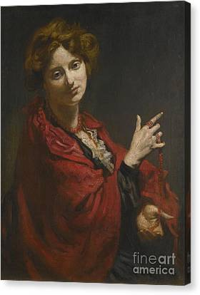 Anita Bartle The Red Shawl Canvas Print by Sir William Orpen