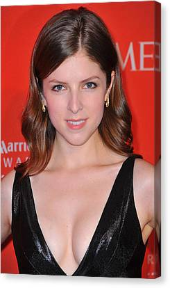 Anna Kendrick At Arrivals For Time 100 Canvas Print by Everett