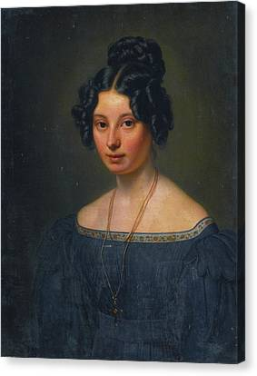 Anna Motherbig Canvas Print by Carl Christian