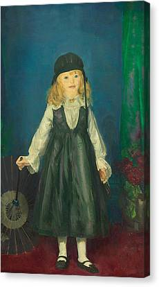 Anne With A Japanese Parasol Canvas Print by George Bellows