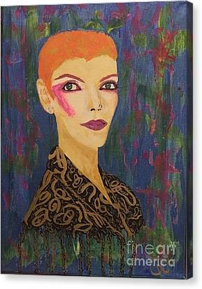 Annie Does Bowie Canvas Print by Caitlin Cherner