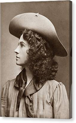 Annie Oakley - Little Sure Shot Canvas Print by War Is Hell Store