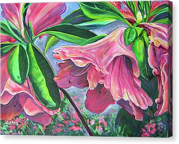 Announcement Of Spring Canvas Print by Lee Nixon