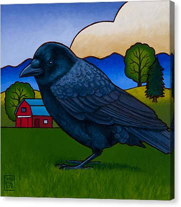 Anns Crow Canvas Print by Stacey Neumiller