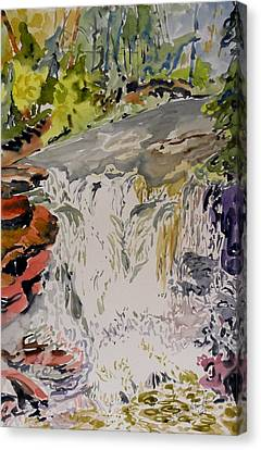 Another Look At The Temperance Falls Canvas Print by Patricia Bigelow