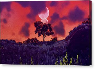 Another Time Another Space Canvas Print by Andrea Mazzocchetti