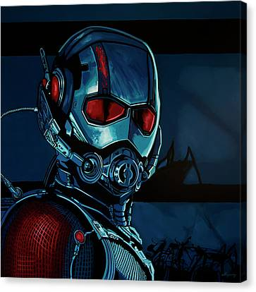 Ant Man Painting Canvas Print by Paul Meijering