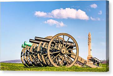 Antietam Cannons Canvas Print by Jerry Fornarotto