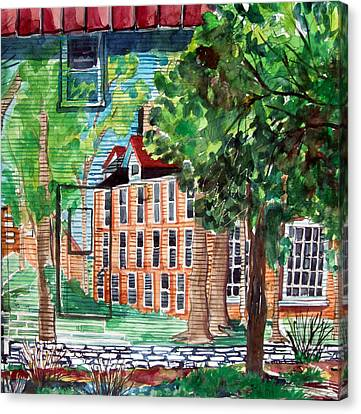 Antioch Yellow Springs Ohio Mural Canvas Print by Mindy Newman