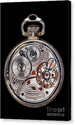 Antique Ball Railroad Watch Movement  Canvas Print by Olivier Le Queinec