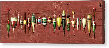Antique Bobbers Red  Canvas Print by JQ Licensing