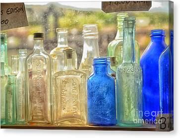 Antique Bottles Canvas Print by Tamera James