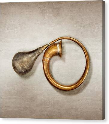 Antique Brass Car Horn Canvas Print by YoPedro
