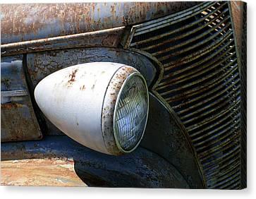 Antique Car Headlight Canvas Print by Douglas Barnett