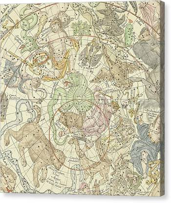 Antique Celestial Map Canvas Print by Carel Allard
