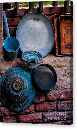 Antique Cookware Canvas Print by Gary Keesler
