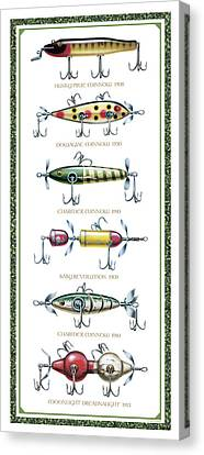 Antique Lure Panel Canvas Print by JQ Licensing