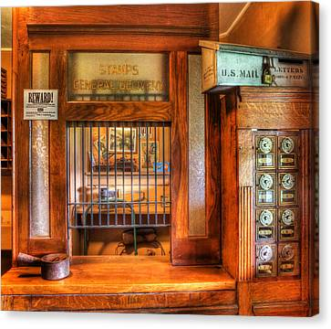 Antique Post Office At The General Store -  Canvas Print by Lee Dos Santos