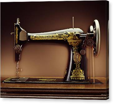 Antique Singer Sewing Machine Canvas Print by Kelley King