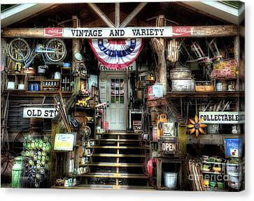 Antiques And Collectibles Canvas Print by Michael Eingle