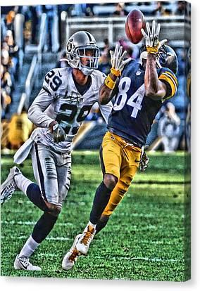 Antonio Brown Steelers Art 3 Canvas Print by Joe Hamilton