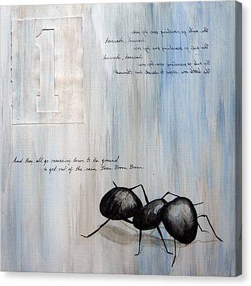 Ants Marching 1 Canvas Print by Kristin Llamas