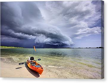 Any Port In A Storm Canvas Print by JC Findley
