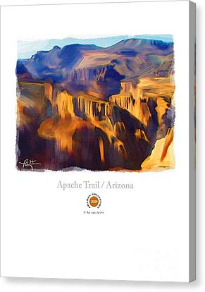Apache Trail Desert Mountains Canvas Print by Bob Salo