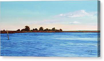 Apalachicola Bay Autumn Morning Canvas Print by Paul Gaj