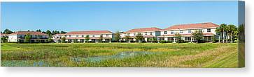 Apartment Buildings In North Port Canvas Print by Panoramic Images
