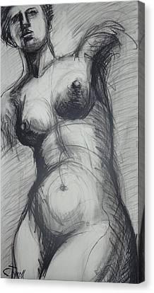 Aphrodite - Female Nude Canvas Print by Carmen Tyrrell