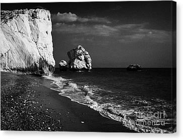 Aphrodites Rock Petra Tou Romiou Republic Of Cyprus Canvas Print by Joe Fox