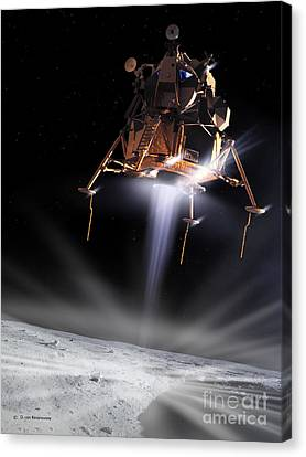 Apollo 11 Moon Landing Canvas Print by Detlev Van Ravenswaay and Photo Researchers