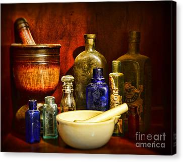 Apothecary - Tools Of The Pharmacist Canvas Print by Paul Ward