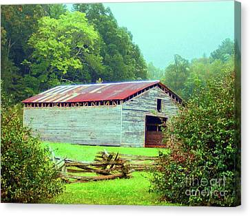 Appalachian Livestock Barn Canvas Print by Desiree Paquette