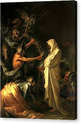 Apparition Of The Spirit Of Samuel To Saul Canvas Print by Salvator Rosa