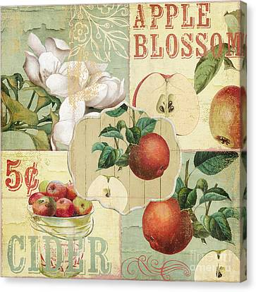Apple Blossoms Patchwork Iv Canvas Print by Mindy Sommers