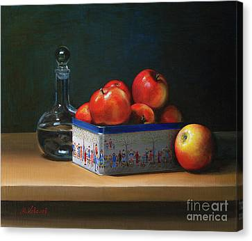 Apple Box Canvas Print by Mikhail Kovalev