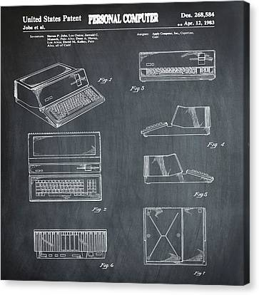 Apple Macintosh Patent 1983 Chalk Canvas Print by Bill Cannon