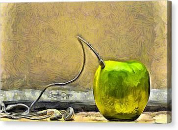 Apple Phone - Da Canvas Print by Leonardo Digenio